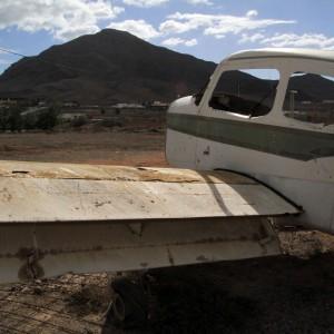 Fuerteventura verlassenes flugzeug